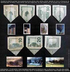 Origami Theory - 9 11 prediction us dollar origami illuminati symbols