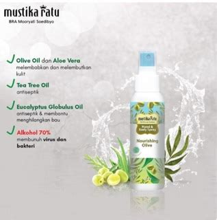 mustika ratu hand sanitizer spray ml shopee indonesia