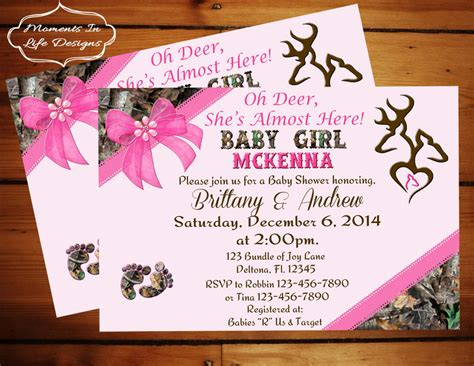 Camo Baby Shower Invitations by Peek A Boo Camo Baby Shower Invitation Camo