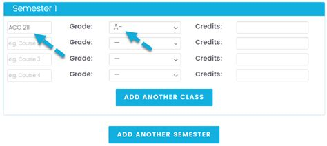 College Letter Grade To Gpa College Gpa Calculator