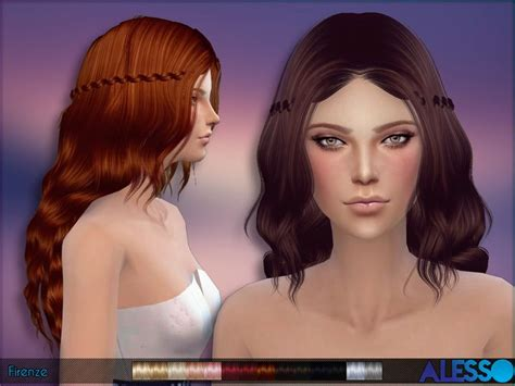 how to download hairstyles in sims 4 the sims resource firenze hairstyle by alesso sims 4
