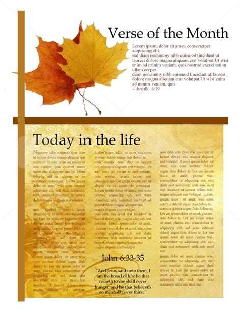 fall newsletter templates two autumn leaves church newsletter template newsletter