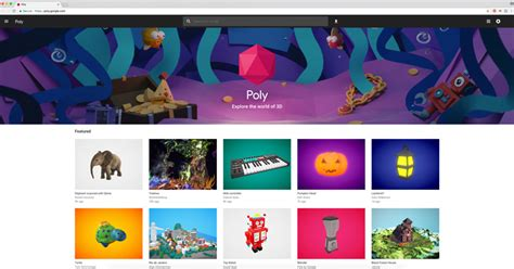 google ui pattern library google launches poly a library for ar and vr objects