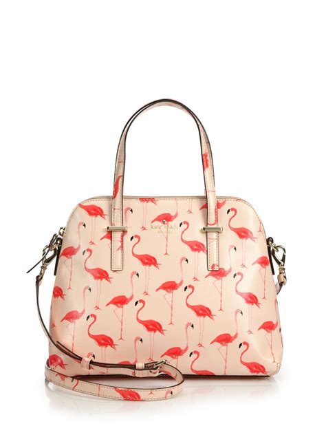 Kate Spade Safiona 2in1 kate spade new york cedar maise flamingo saffiano faux leather satchel in pink lyst