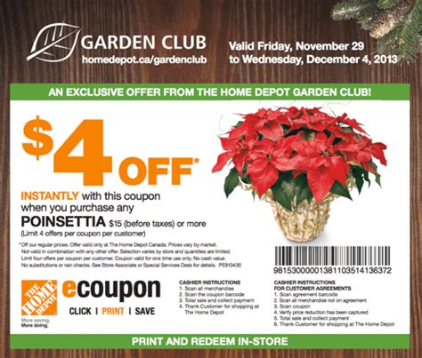 Garden Of In Store Coupons The Home Depot Canada Garden Club Coupons Save 4 When