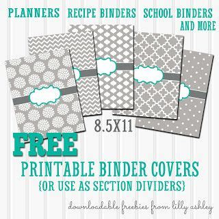printable binder cover sheets free binder cover printables set of 5 with printable spine