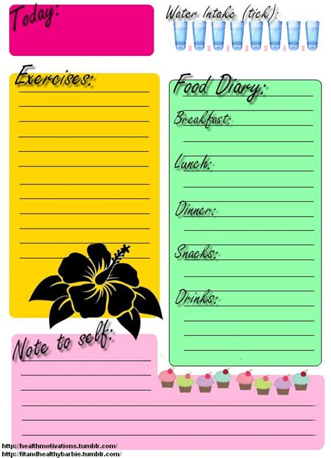 printable daily health journal printable food journal exercise daily journal there s no