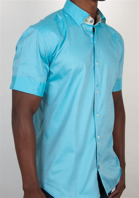 light blue button up shirt mens turquoise oxford short sleeve button down shirt with light