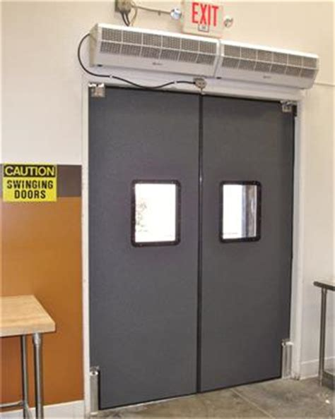 commercial kitchen double swing door pro tuff series people traffic doors
