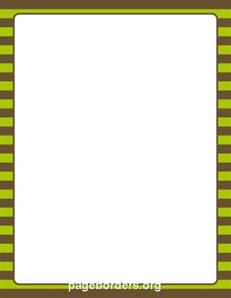 printable blue striped border use the border in printable brown and green striped border use the border in microsoft word or other programs for