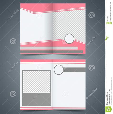 46 best layouts e templates gr tis images on pinterest layouts empty bifold brochure template design with pink co stock
