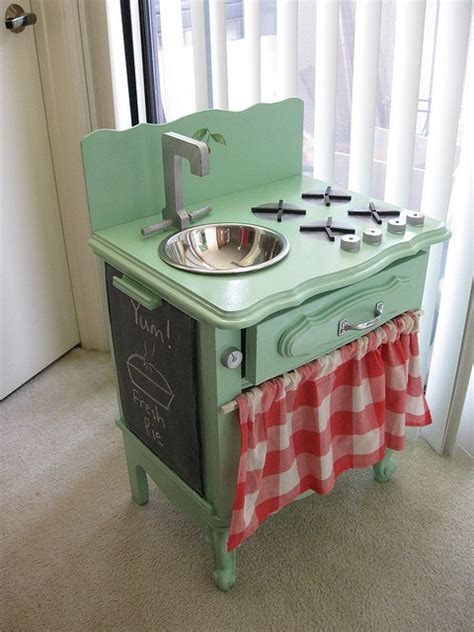 Upcycled Kitchen Ideas Dishfunctional Designs Furniture Upcycled Into Dollhouses Play Kitchens