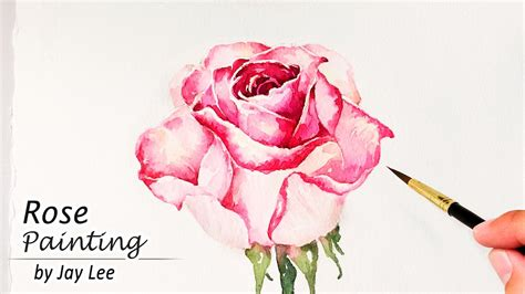 watercolor rose tutorial for beginners how to paint a rose in watercolor painting flowers