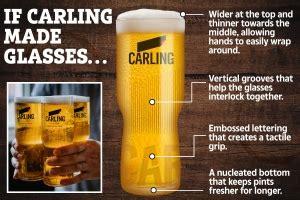 carling pint glasses  sale ce oz ml  style