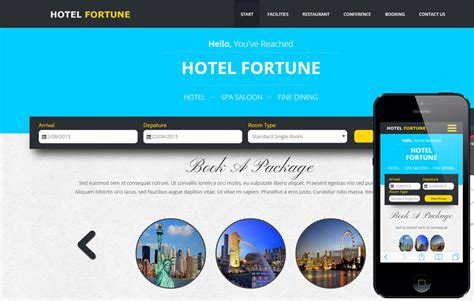Fortune A Hotel Category Flat Bootstrap Responsive Web Template By W3layouts Fortune Builders Templates