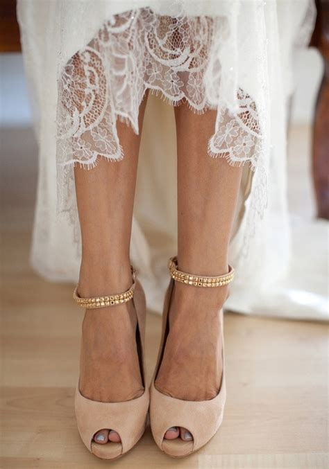 Blush Colored Shoes For Wedding by Bridal Style Neutral Colored High Heels Are A Fit