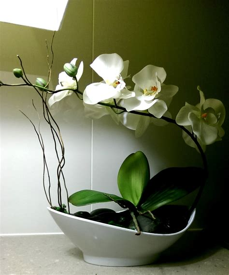 Grand Phalaenopsis Orchid Artificial Flower Arrangement Phalaenopsis Silk Orchid Arrangement Artificial Orchid Floral