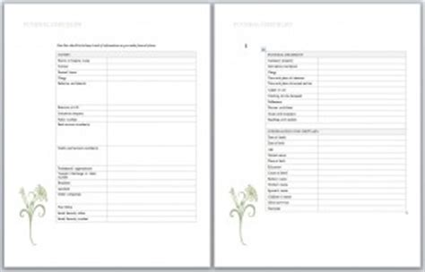 Funeral Planning Checklist Planning A Funeral Checklist Funeral Wishes Document Template