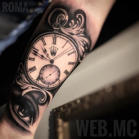 rolex pocket watch amp eye best tattoo design ideas