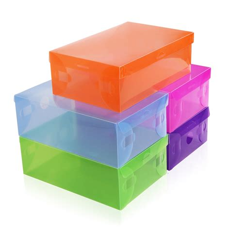 shoe box storage containers transparent shoe box multicolour plastic storage box for