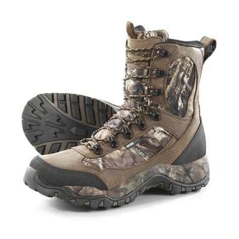 camo boots guide gear s pursuit camo 9 quot boots mossy oak