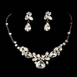 Bridal jewelry set gold silver crystal bridal jewelry set bridal