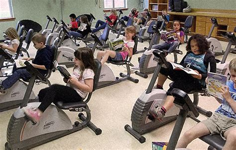 This School Has Bikes Instead Of Desks And It Turns Out Students In Desks