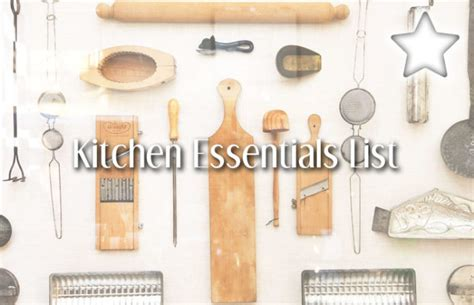 must have kitchen items list top 20 kitchen cookware essentials list must have handy