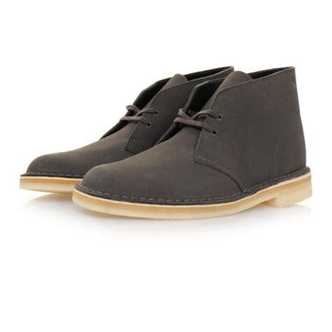 clarks originals desert boot charcoal suede boots