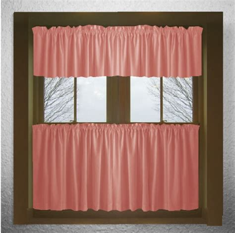 rose colored drapes solid rose colored kitchen tier cafe curtains