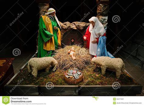 Crib Nativity by Nativity Crib Sets Stock Image Image 55377401