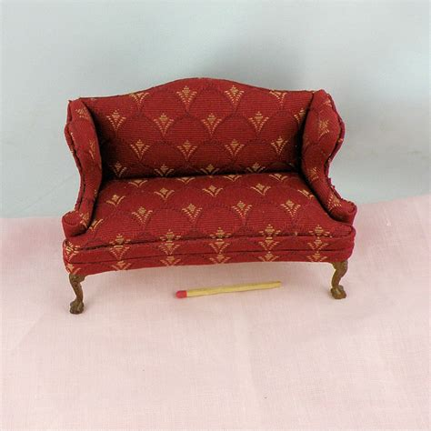 red stripe sofa lodi red stripe sofa miniature furniture doll house