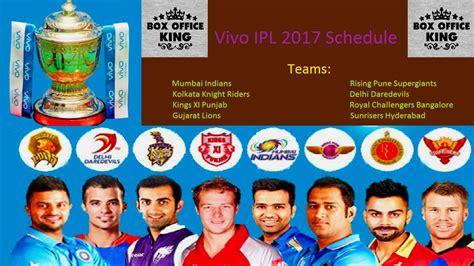 ipl teams 2017 vivo indian premier league ipl 2017 techshells