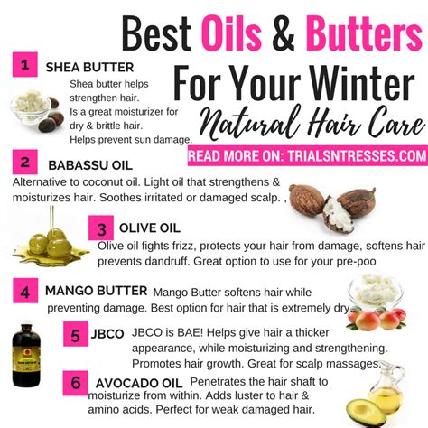 Best Oils And Butters For Winter Natural Hair Care Continue Reading | best oils and butters for winter natural hair care