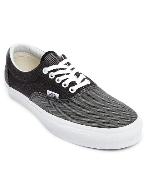 Vans Era Grey Green vans era blue grey denim chambray in gray for blue lyst