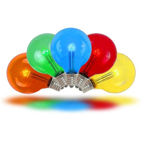 Color Led Light Bulbs Multi Colored Led G30 Glass Globe Light Bulbs Novelty Lights