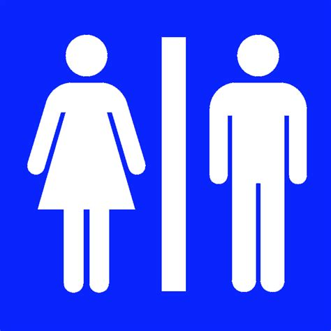 male female bathroom symbols toilets signs clipart best