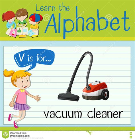 Complaint Letter Vacuum Cleaner Flashcard Letter V Is For Vacuum Cleaner Stock Illustration Image 78708276