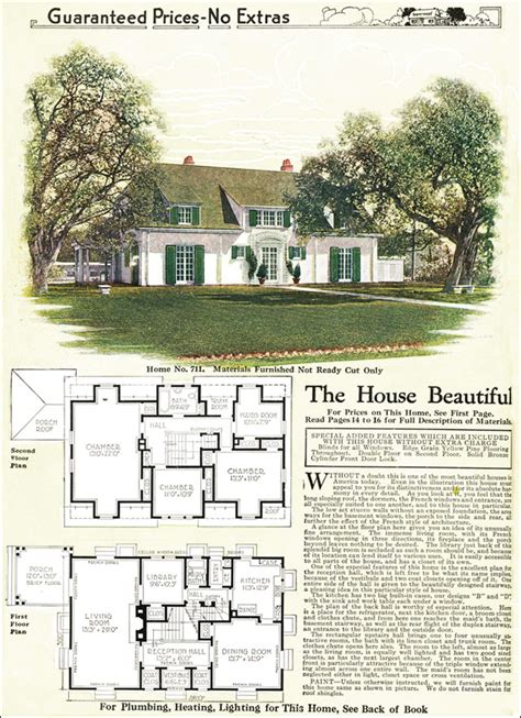 gordon van tine house plans 1918 french eclectic house gordon van tine model no 711