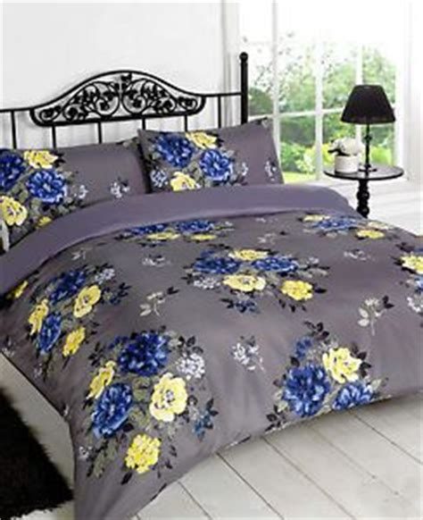 navy blue and yellow bedding vintage flower quilt cover grey navy blue yellow