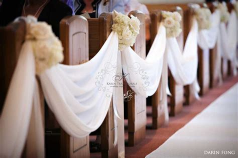 wedding aisle draping drape fabric along church pews decor ideas pinterest