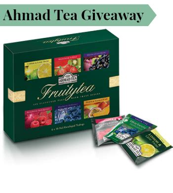 Ahmad Tea Raspberry Indulgence 40g Flavoured Black Tea 20 Tea Bag giveaway win ahmad fruit tea selection garden tea cakes and me