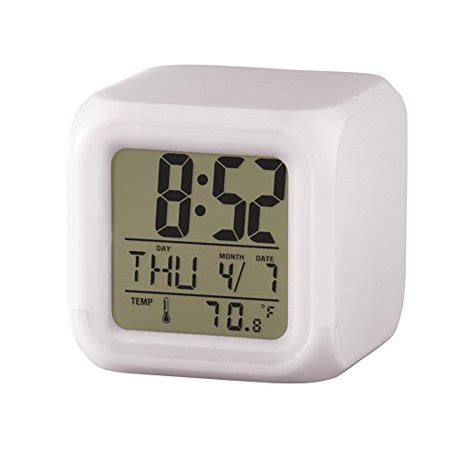 color changing digital alarm clock walmart