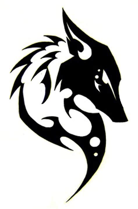 tribales tattoos kitsune sihlouette fox kitsune totem