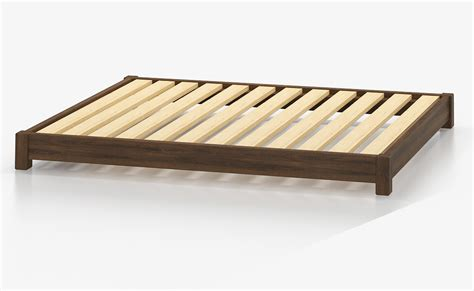 low wood bed frame jervis space saving low timber bed base