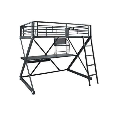 powell furniture z bedroom size study metal loft bunk