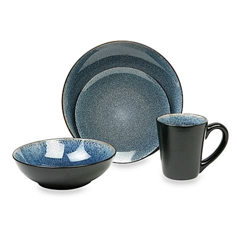 bed bath and beyond dish sets buy baum simplicity 16 piece dinnerware set in blue from