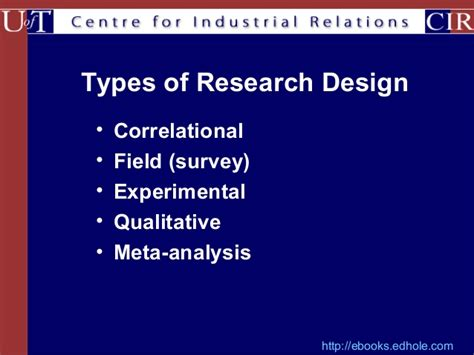 Methods Of Mba Notes by Types Of Research Designs
