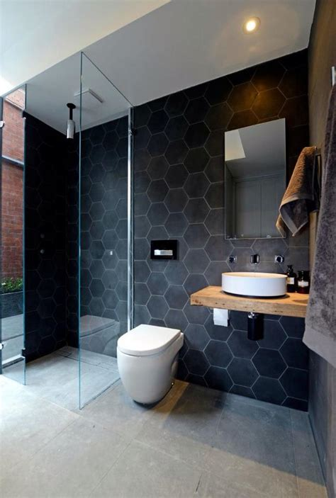small bathroom ideas australia piastrelle esagonali atmosfere vintage spazio soluzioni