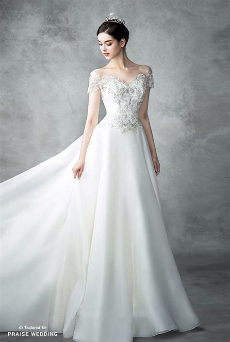 beautiful classic wedding dresses this classic jeweled wedding gown from st mariee is